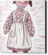 Vintage Volland Raggedy Ann Cloth Doll Canvas Print