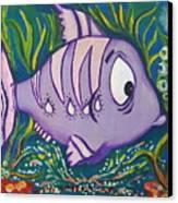 Violet Fish Canvas Print