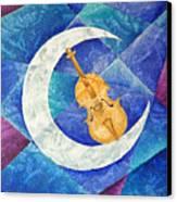 Violin-moon Canvas Print