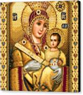 Virgin Mary Of Bethlehem Icon Canvas Print by Stoyanka Ivanova