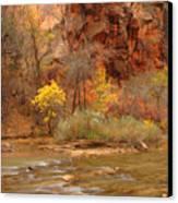 Virgin River At The Narrows Canvas Print
