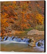 Virgin River In Autumn Canvas Print