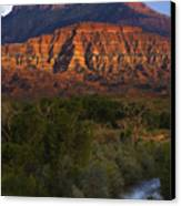 Virgin River Near Zion National Park Canvas Print by Utah Images