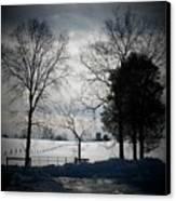 Virginia Snow Canvas Print by Joyce Kimble Smith