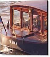 Vltava River Boat Canvas Print by Shawn Wallwork