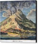 Volcano: Mt. Etna Canvas Print by Granger