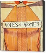 Votes For Women, 1911 Canvas Print by Granger