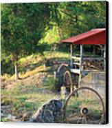 Wagon Shed Canvas Print by Suzanne Gaff