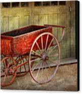Wagon - That Old Red Wagon  Canvas Print