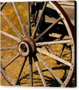 Wagon Wheel Canvas Print by Perry Webster