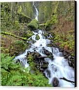 Wahkeena Falls Oregon Waterfall Canvas Print by Dustin K Ryan