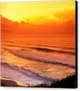 Waimea Bay Sunset Canvas Print by Vince Cavataio - Printscapes