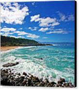 Waimea Bay Canvas Print by Ty Helbach