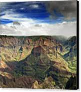 Waimea Canyon Hawaii Kauai Canvas Print by Brendan Reals