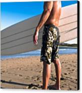 Waiting For The Surf Canvas Print by Jim DeLillo