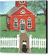Waiting On The Bell Canvas Print by Sue Ann Thornton
