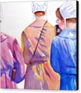 Walking By Faith Canvas Print by Marsha Elliott