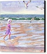 Walking The Cape Canvas Print by Laura Lee Zanghetti