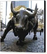 Wall Street Bull Color 16 Canvas Print