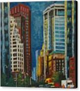 Wall Street Canvas Print by Milagros Palmieri