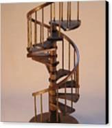 Walnut Spiral Staircase  Canvas Print by Don Lorenzen