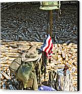 War Dogs Sacrifice Canvas Print by Carolyn Marshall