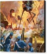 War Of The Worlds Canvas Print by Barrie Linklater