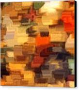 Warm Colors Abstract Canvas Print