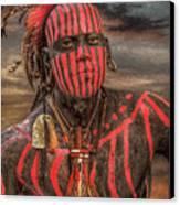 Warpath Shawnee Indian Canvas Print by Randy Steele