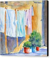 Wash Day In Marsaxlokk Canvas Print