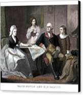 Washington And His Family Canvas Print by War Is Hell Store