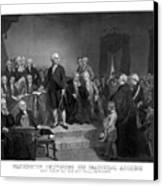 Washington Delivering His Inaugural Address Canvas Print by War Is Hell Store