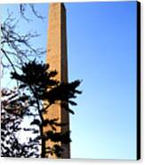 Washington Monument At Dusk Canvas Print