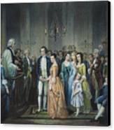 Washingtons Marriage Canvas Print
