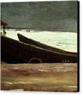 Watching A Storm On The English Coast Canvas Print