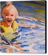Water Baby Canvas Print by Karen Stark