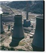 Water Cooling Towers Of The John Amos Canvas Print by Everett