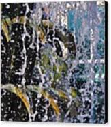 Water Fountain Blue Charleston Sc Canvas Print by Lori Kesten