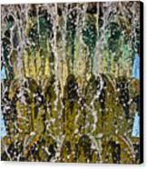 Water Fountain Light Charleston Canvas Print by Lori Kesten