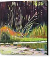 Water Garden Landscape Canvas Print