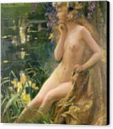 Water Nymph Canvas Print by Gaston Bussiere