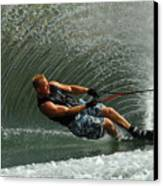 Water Skiing Magic Of Water 11 Canvas Print by Bob Christopher