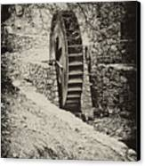 Water Wheel Canvas Print by Bill Cannon