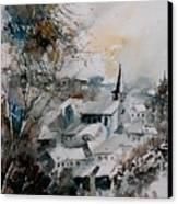 Watercolor Houyet  Canvas Print