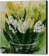 Watercolor Tulips Canvas Print