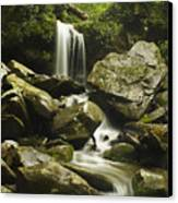 Waterfall In The Spring Canvas Print by Andrew Soundarajan