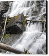 Waterfalls Of Lost Creek Canvas Print by Dana Moyer