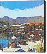 Waterfront And Table Mountain Canvas Print by Jan Hattingh