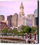 Waterfront Park Pink Canvas Print by Susan Cole Kelly