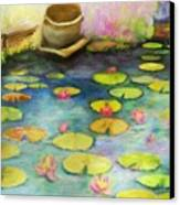 Waterlilies Canvas Print by Sydne Archambault